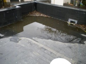 Ponding Water on Roof