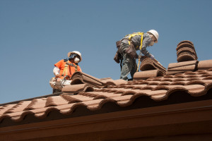 Roofers Installing Terracota Tile Atlanta